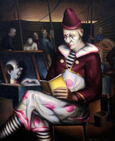 Paul Sample, Clown Reading