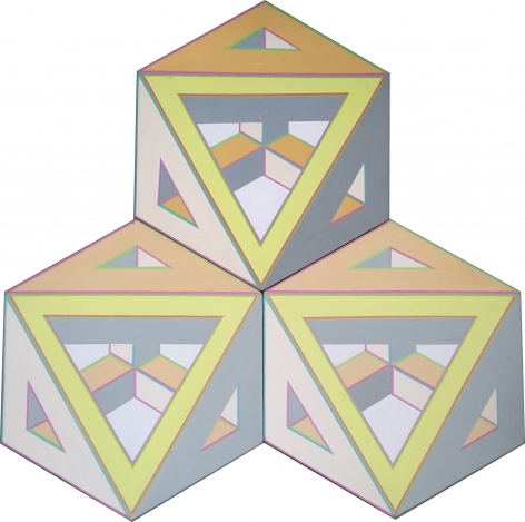 Alvin Loving Jr., Three Hexagon Shaped Canvases