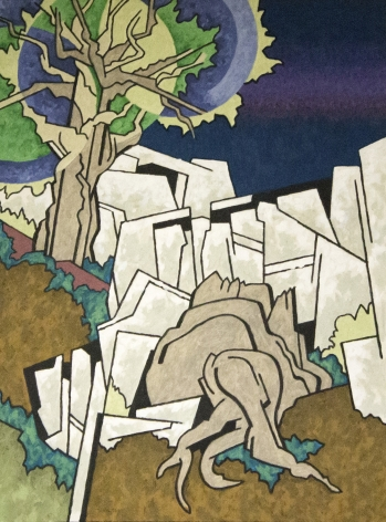 Easton Pribble, Trees and Stump