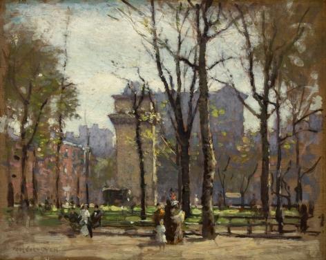 Paul Cornoyer, Washington Square Park