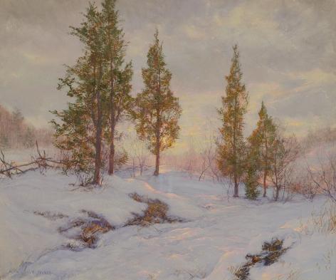 Walter Launt Palmer, Roadside Cedars