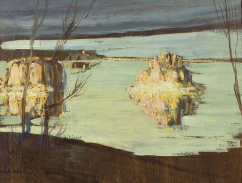 Edith Prellwitz, Southwestern Lake with Rocks