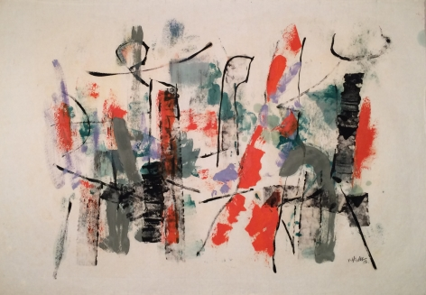 John Von Wicht untitled 1956 Harbor Abstraction