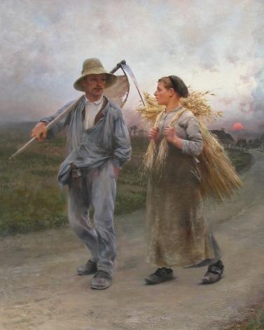 August Hagborg, The Peasants' Return