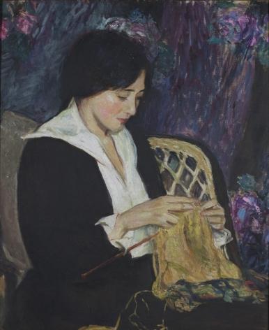 Edith Prellwitz, Young Woman Knitting