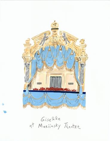 Cultural Capital (Mariinsky Theatre), 2013, Gouache on paper