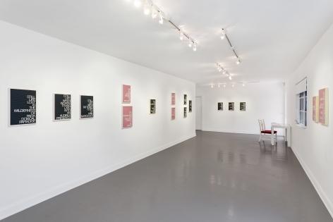 "Installation view of Maynard Monrow ""Under the Influence"""