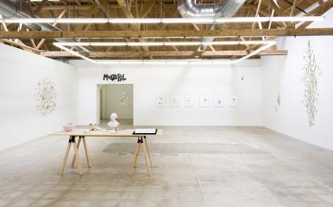 Rob Wynne: The Backstage of the Universe Install, GAVLAK Los Angeles