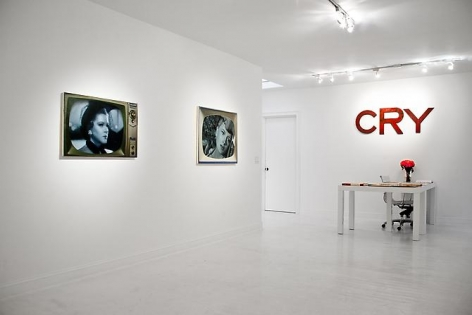 """Installation view """"The Palm Beach Beach Story, or Whatever Happened to Baby Jane"""""""