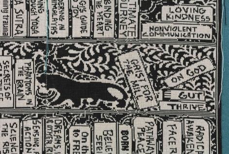 Radical Awakening, 2018, Merino wool stitched onto stretched linen