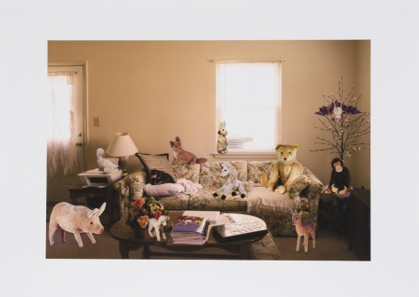 Animal Friends in the Living Room, 2014, Collage on inkjet print