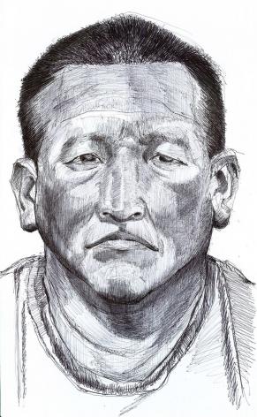 Roberto Q., Guatemala. Ball point pen on paper. 2012.
