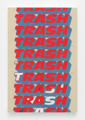 Trash (Red and Gray Wall, For Andy), 2018