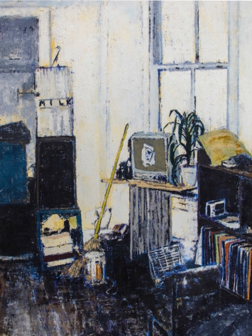 East 12th Street, New York, Apartment of ALexis Adler and Jean-Michel Basquiat, 2018, Oil on canvas