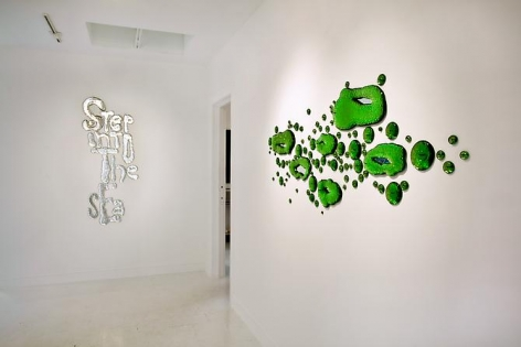 """Installation View """"The Green Ray"""""""