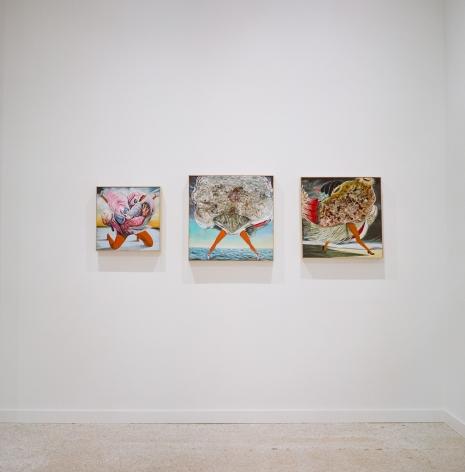 Installation view Selections from the New Wave Residents: Estelle Maisonett, Joiri Minaya, Renzo Ortega and Asser Saint-Val, (2021)