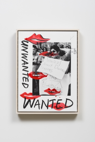 Wanted Unwanted, 2015, Ink, acrylic and archival pigment print, paper on aluminum