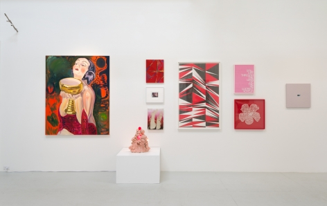 "Installation view of ""Flaming June VII (Flaming Creatures)"""