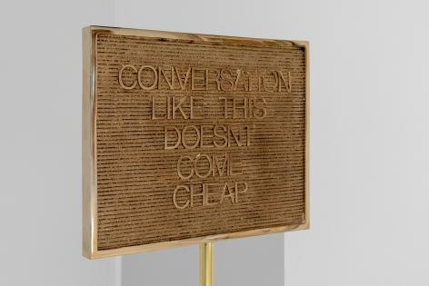 Untitled / Conversation (Gold/Gold), 2018, (Detail)