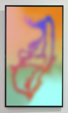 Tangerine Kush, 2015, Digital video loop on a 60 inch Samsung LEDTV