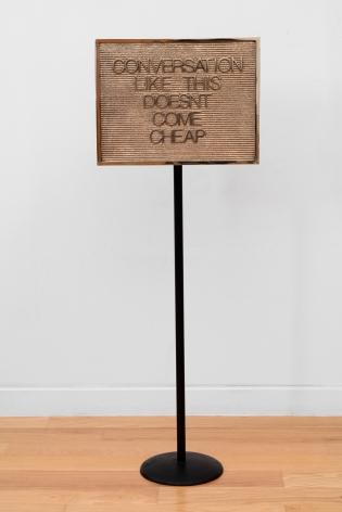 Maynard Monrow, Untitled / Coversation (Gold/Black), 2018