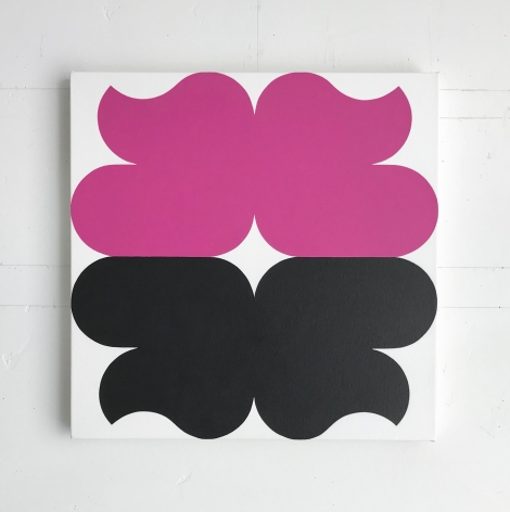 Linda Daniels, Magenta Black with White, 2018