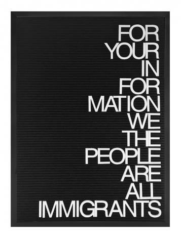 Maynard Monrow Untitled / Immigrants, 2017