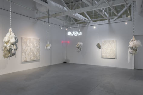 """Installation view of """"Let Her Rave"""""""
