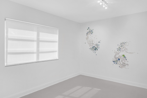 "Install view of Rob Wynne ""OH2/H2O"""