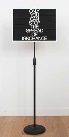 Maynard Monrow Untitled / Ignorance (Black/Grey), 2017