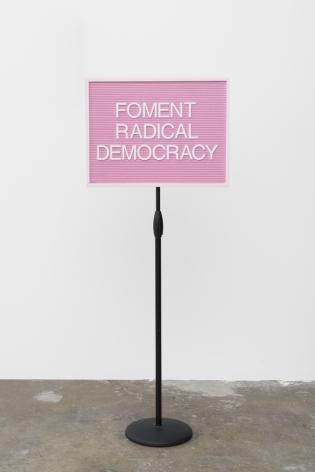 Maynard Monrow Foment Radical Democracy, 2019