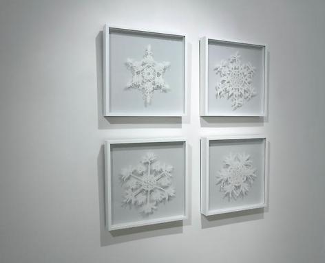 Palm Tree Snowflake Grid