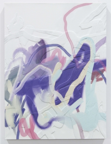 Blowfish, 2015, 3D print on linen