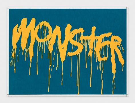 Andrew Brischler MONSTER (Peacock Blue/ Sunburst Yellow Drips), 2018-2019