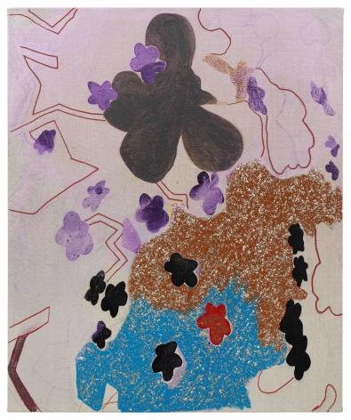 Flower Stars in Lavendar, 2019, Acrylic on linen