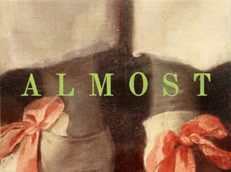 Almost, 2018, Pigment and embroidery on canvas