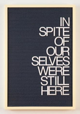 Maynard Monrow, Untitled / In Spite (Yellow/Grey), 2018