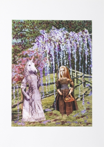 Mother and Daughter, 2014, Collage on inkjet print