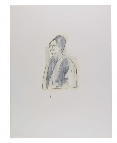 Untitled (Oum Kalsoum), 1981, Graphite and oil-based enamel on paper
