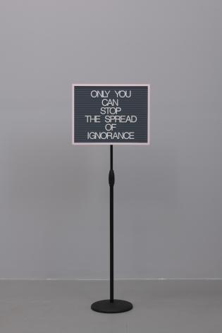 Maynard Monrow, Untitled / Ignorance (Pink/Grey), 2018