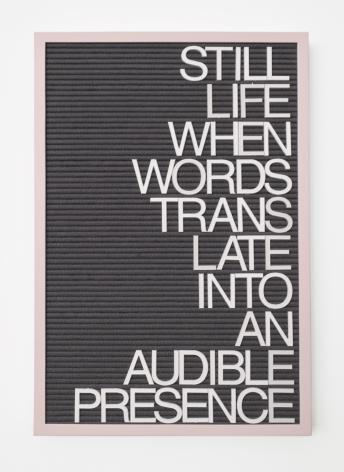 Untitled / Audible Presence, 2017, Mixed media