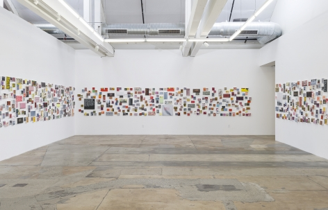 Installation view of Betty TompkinsSex Works / WOMEN Words, Phrases and Stories