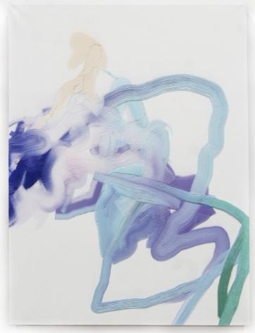 White Walker Kush, 2015, 3D print on linen