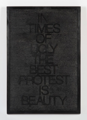Untitled / Beauty Protest (Black/Black), 2018, Edition of 6