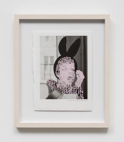 Betty Tompkins Women words (Avedon #10), 2019