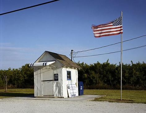 """Lisa Anne Auerbach, Ochopee Post Office, from series """"Along the Dixie Highway,"""" 2007"""