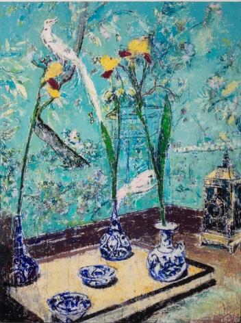 13 Rue Méchain, ParisApartment of Pauline de Rothschild, 2019, Oil on canvas