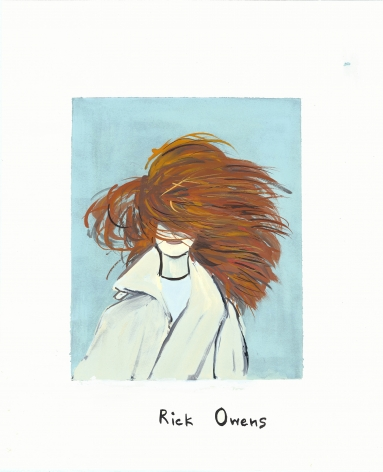 On Beauty I Clever Twists on Classic Hairstyles (The Grace Coddington), 2013, Gouache on paper