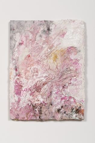 Derek Paul Boyle, Plaster cast trash painting (trash bin behind 1800 Kingsley), 2014