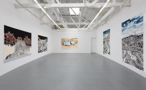 "Installation view of ""Vague Terrains/Urban Fuckups""."
